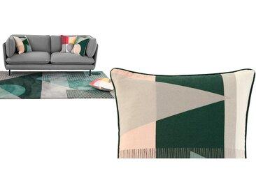Axle, coussin imprimé triangles 45 x 45 cm, vert multicolore