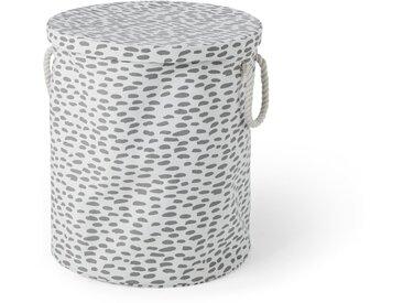 MADE Essentials - Jada, panier à linge rond 100% coton à motifs, Multicolore