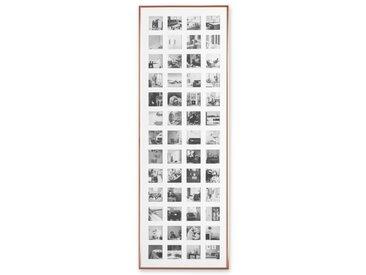 Denver, grand cadre photo pêle-mêle 52 vues en métal, fini cuivre