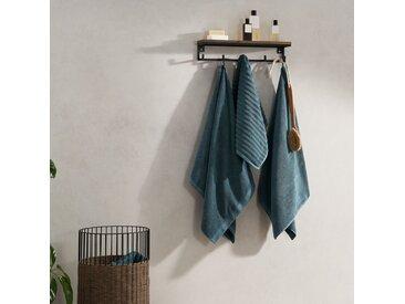 Alto, lot de 4 serviettes de bain, bleu azur