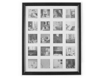 Diment, grand cadre photo 20 vues, 44 x 54 cm, noir