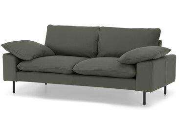 Fallyn, grand canapé 2 places, cuir nubuck Loden