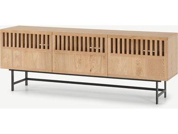 Amina, grand meuble TV, chêne