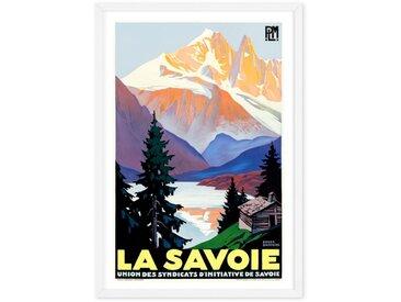 La Savoie A2 Framed Vintage Travel Wall Art Print, Multicoloured