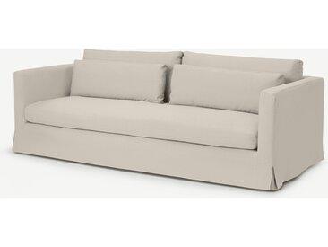 Arabelo, canapé 3 places déhoussable, mélange coton et lin naturel