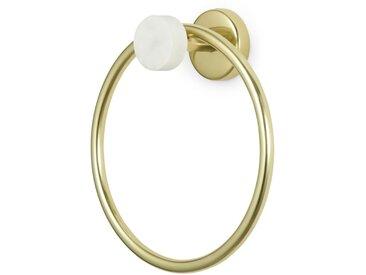 Sakari, anneau porte serviette, marbre et laiton