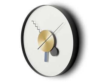 Von, horloge décorative 30 cm, noir et laiton