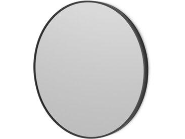 Parton, miroir mural ovale 60 x 60 cm, noir mat