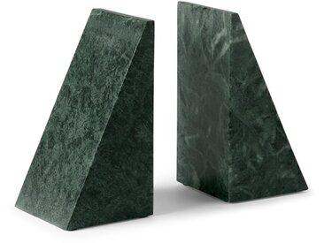 Elisa, lot de 2 serre-livres en marbre, vert