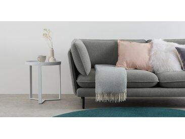 Burley, plaid en laine, 125 x 170 cm, gris perle