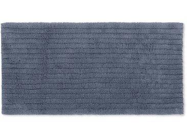 Alto, long tapis de bain 100% coton 50 x 110 cm, bleu indigo