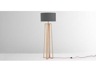 Asher, lampadaire en bois, naturel