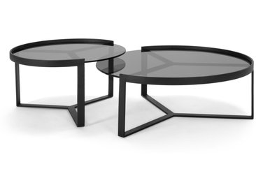 Aula, tables gigognes, noir et gris