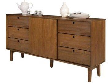 Buffet Table console Charme Retro - 6 tiroirs, 01 porte avec 01