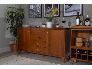 Buffet 4 tiroirs - Ligne Lotus – Couleur Caramel