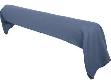 Taie de traversin uni 230X43 cm 100% coton ALTO bleu Jean