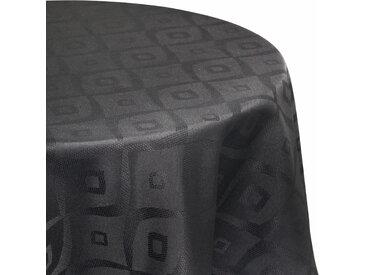 Nappe ovale 180x300 cm Jacquard 100% polyester BRUNCH anthracite
