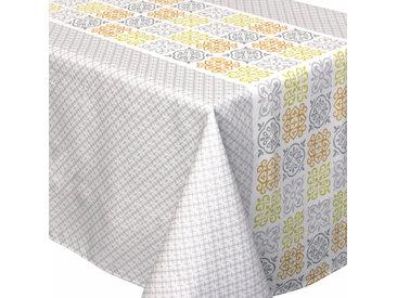 Nappe rectangle 150x200 cm imprimée 100% polyester CARO géométrique gris