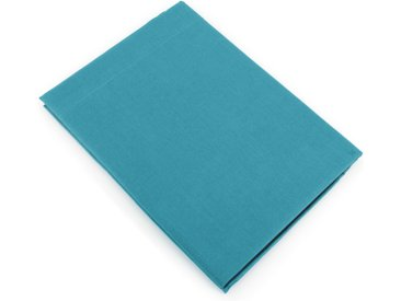 Drap plat uni 180x290 cm 100% coton ALTO bleu colibri