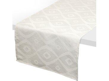 Chemin de table 45x150 cm Jacquard 100% polyester BRUNCH ecru