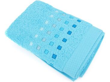 Serviette de toilette 50x100 cm 100% coton 550 g/m2 PURE PRIMAVERA Bleu Océan