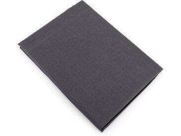 Drap plat uni 240x310 cm 100% coton ALTO Noir de lune