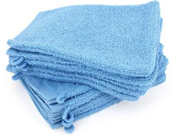 Lot de 12 gants de toilette 16x21 cm ALPHA bleu Ciel