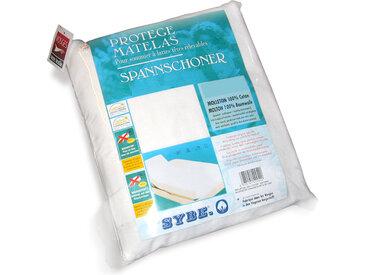 Protège matelas absorbant Antonin blanc 2x100x200 Spécial lit articulé TR Grand Bonnet 30cm