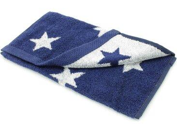 Serviette invité 33x50 cm 100% coton 480 g/m2 STARS Bleu Marine