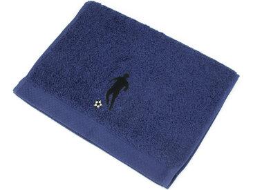 Serviette invite 33x50 cm 100% coton 550 g/m2 PURE FOOTBALL Bleu Marine