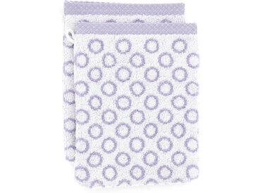 Lot de 2 gants de toilette 16x21 cm GRAPHIC CIRCLE violet