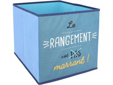 Cube de rangement 27L bleu le rangement c'est marrant
