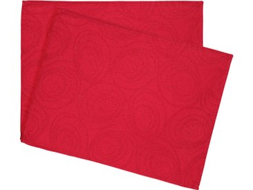 Lot de 2 sets de table 35x45 cm Jacquard 100% coton SPIRALE rouge