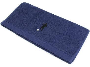 Serviette de toilette 50x100 cm 100% coton 550 g/m2 PURE FOOTBALL Bleu Marine