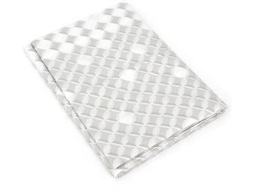 Drap plat 180x290 cm satin de coton FACETTE gris