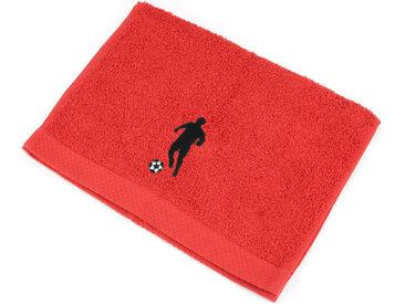 Serviette invite 33x50 cm 100% coton 550 g/m2 PURE FOOTBALL Rouge