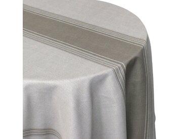 Nappe ronde 180 cm imprimée 100% polyester BISTROT Taupe