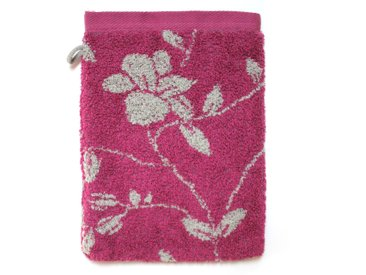 Gant de toilette 16x21 cm 100% coton 480 g/m2 FLORAL Rose