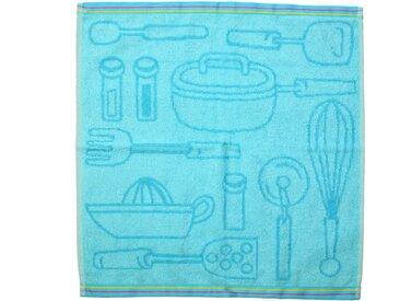 Lot de 3 torchons de cuisine 50x50 cm 100% coton 400 g/m2 MENU Bleu