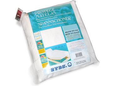 Protège matelas absorbant Antonin blanc 2x90x200 Spécial lit articulé TPR