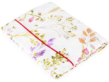 Drap plat 180x290 cm Percale pur coton HERBIER Blanc