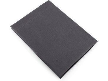 Drap plat uni 180x290 cm 100% coton ALTO Noir de lune