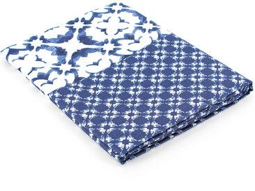 Drap plat 240x310 cm 100% coton PADANG bleu
