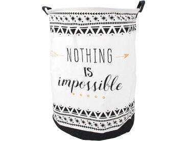 Panier à linge 63L blanc Nothing is impossible