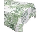 Nappe rectangle 160x250 cm OASIS vert 100% coton + enduction acrylique
