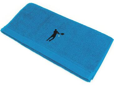 Serviette de toilette 50x100 cm 100% coton 550 g/m2 PURE TENNIS Bleu Turquoise