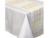 Nappe rectangle 150x350 cm imprimée 100% polyester CARO géométrique gris
