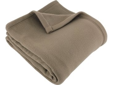 Couverture polaire 220x240 cm 100% Polyester 350 g/m2 TEDDY Marron Taupe