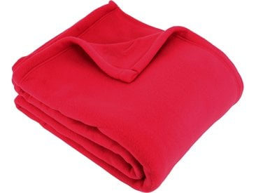 Couverture polaire 180x220 cm 100% Polyester 350 g/m2 TEDDY Rouge Cerise