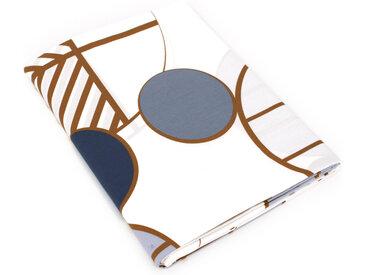 Drap plat 180x290 cm Percale 100% coton ROMEO bleu Baltique